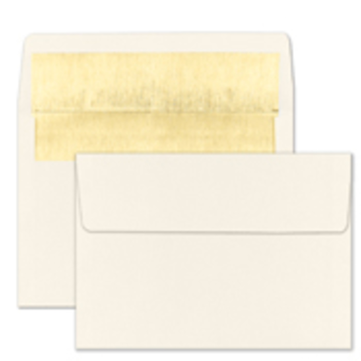 Recycled Shiny Gold Foil Lined Ecru Envelope - Blank