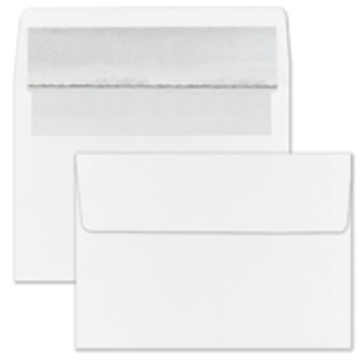 Recycled Silver Foil Lined White Envelope - Blank