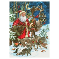 Scandinavian Santa and Animals Card