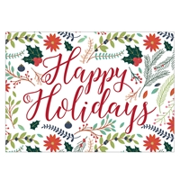 Happy Holidays Floral Card
