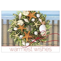 Warm Wishes Wreath Card