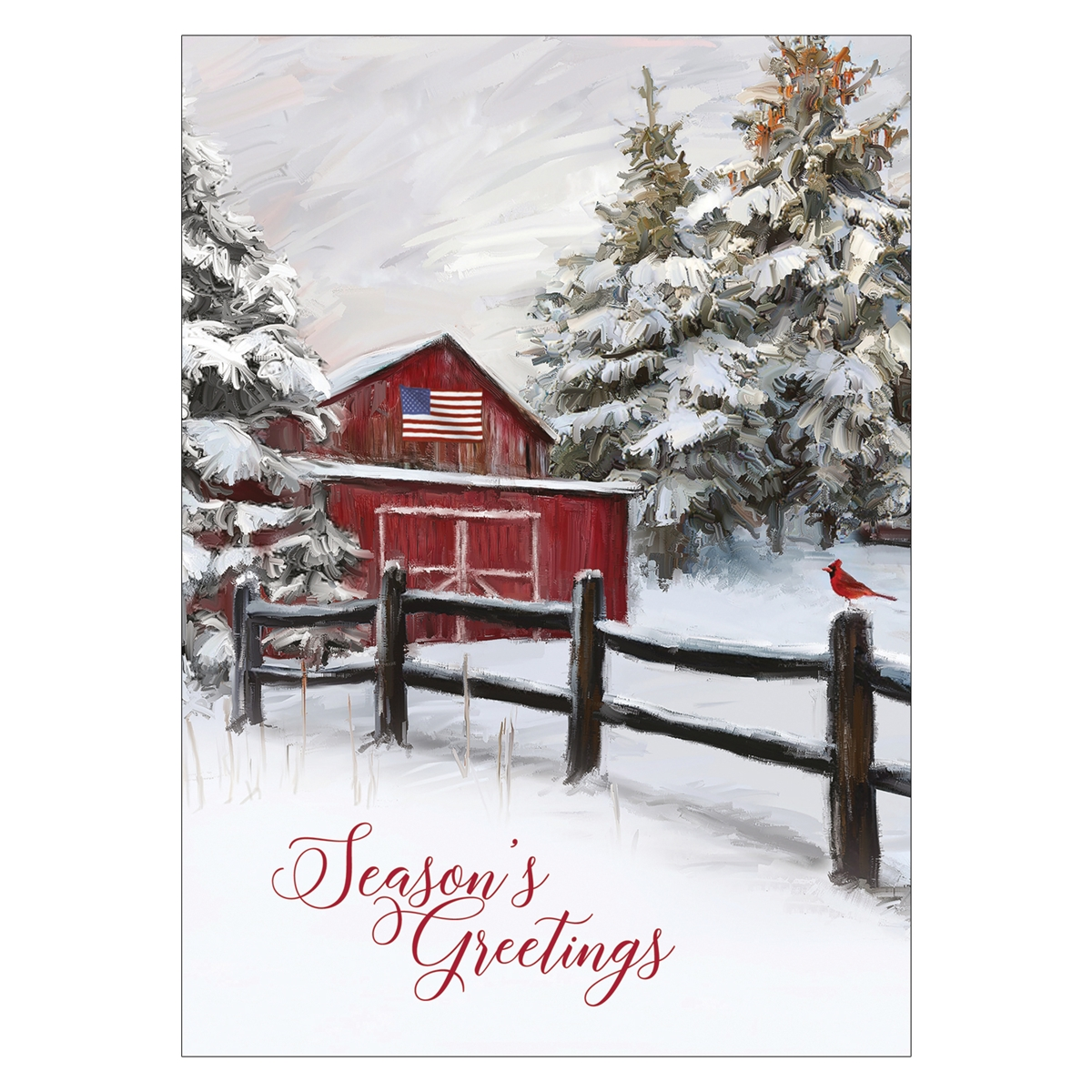 Winter Barn Card