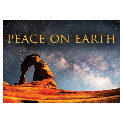 Starry Night Over Delicate Arch Card