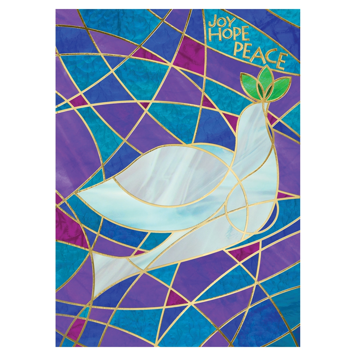Stained Glass Dove Card