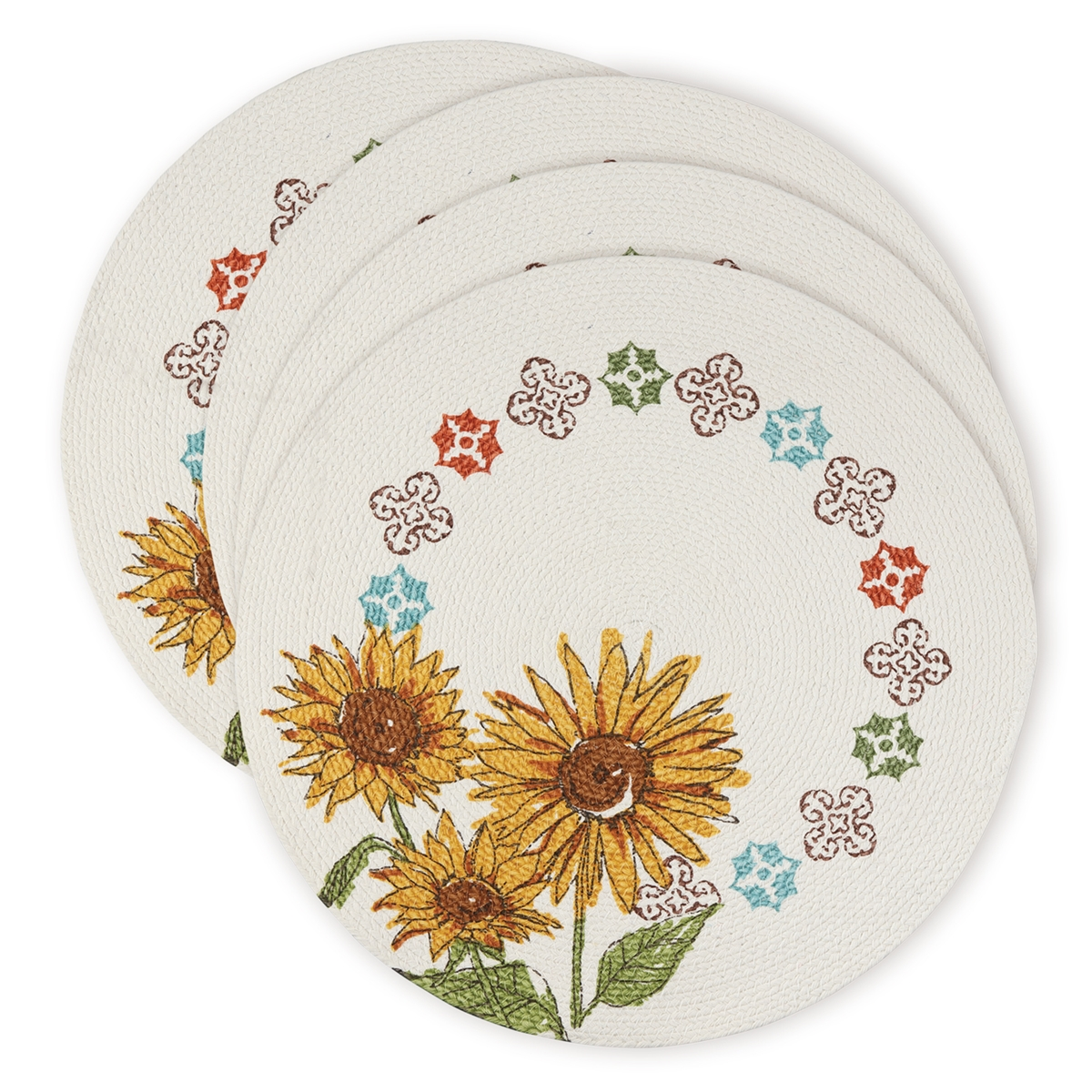 Tuscan Elegance Braided Placemat Set