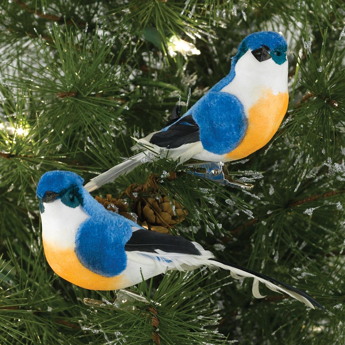 Bluebird Clip Ornaments