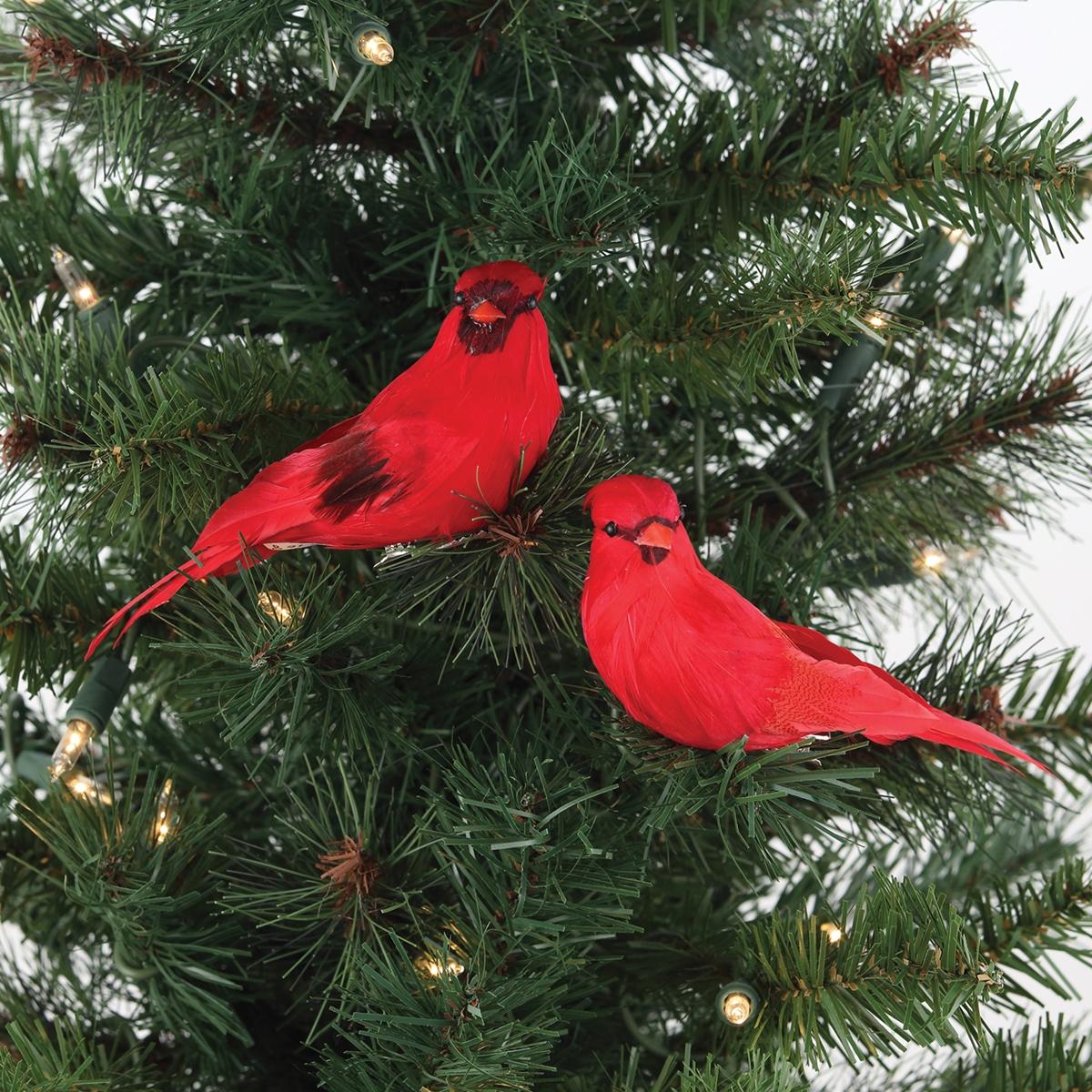 Cardinal Clip Ornaments
