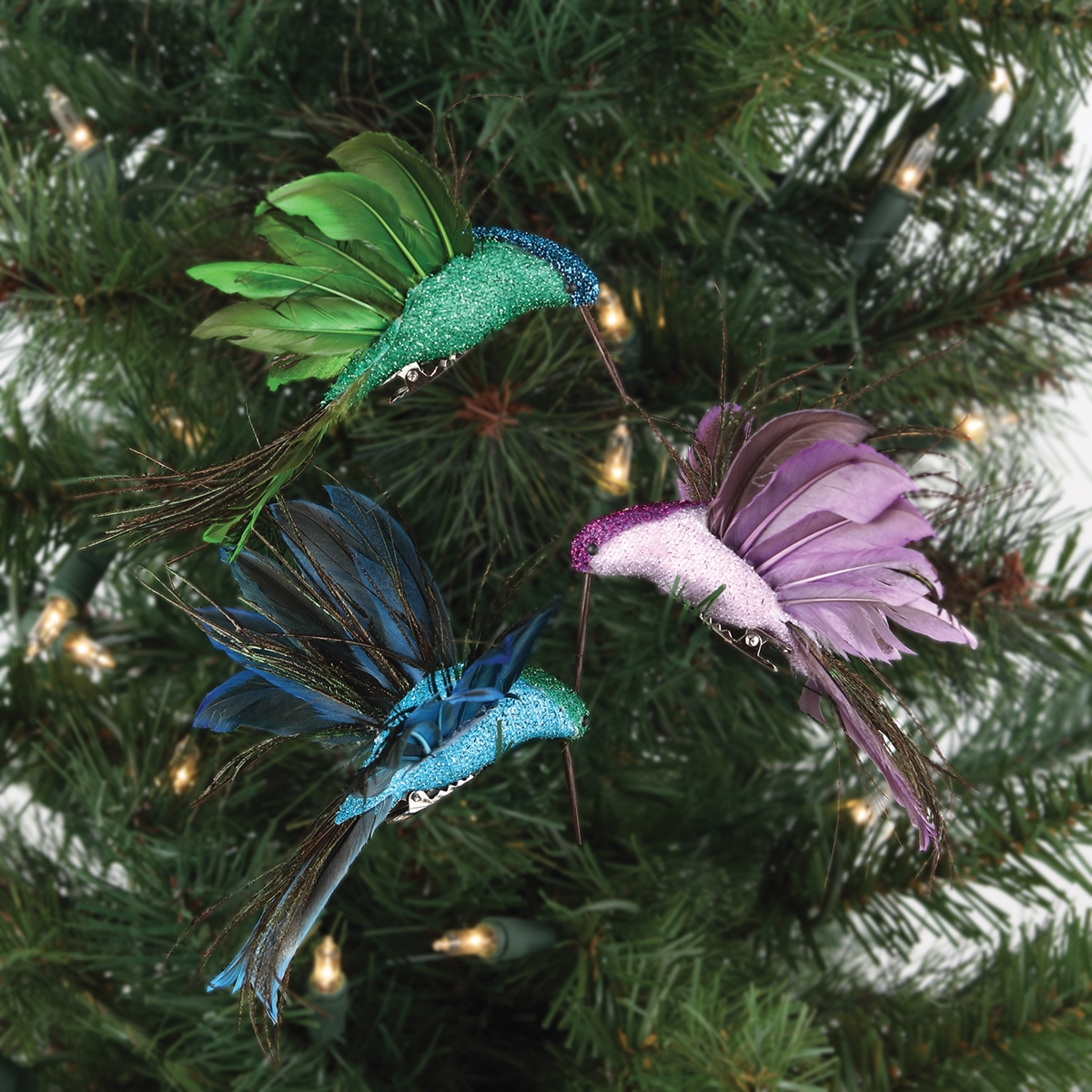 Hummingbird Clip Ornaments