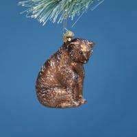 Vintage Bear Glass Ornament