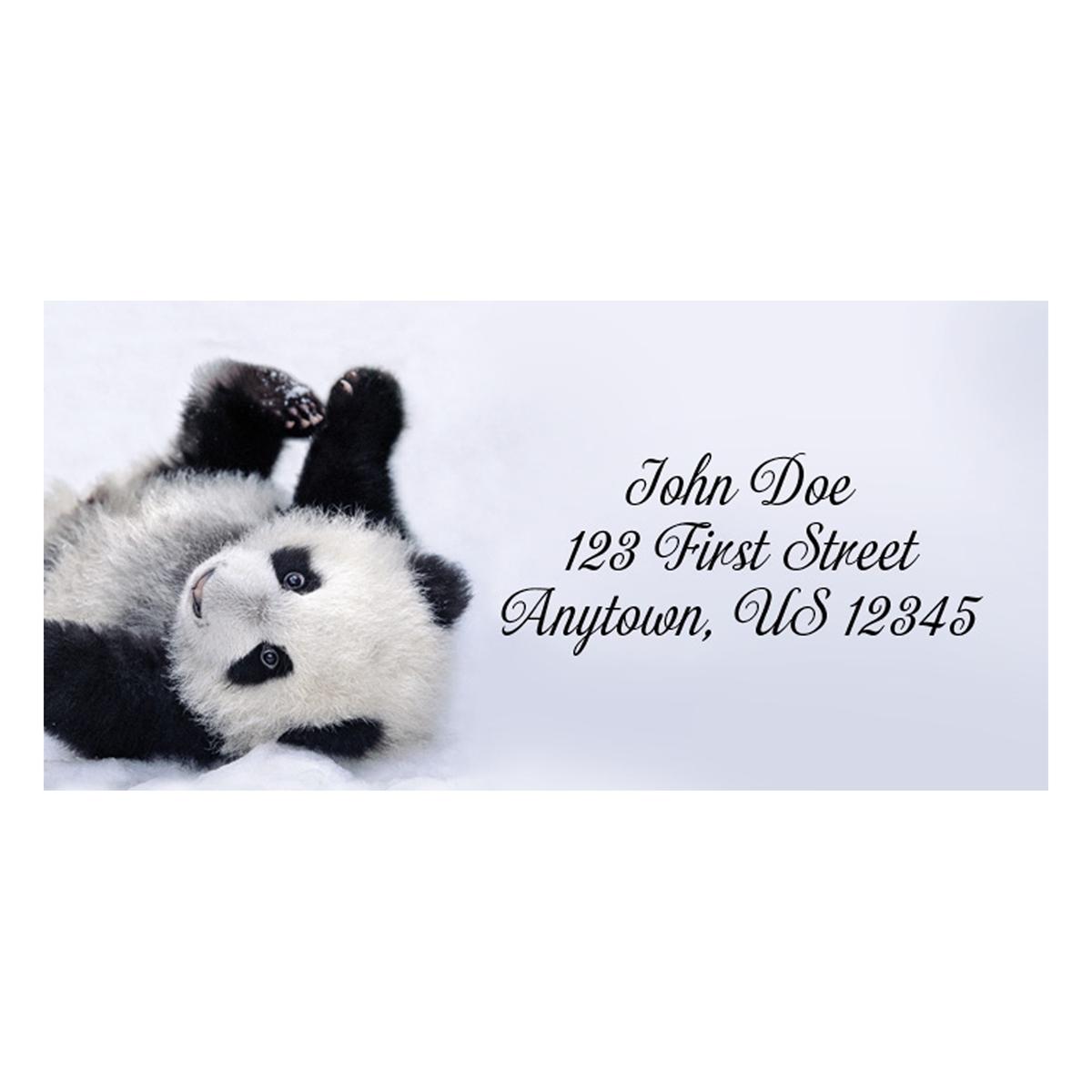 Posing Panda Address Label