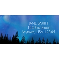 Aurora Borealis Address Label