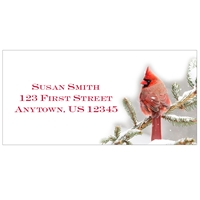 Red Brilliance Address Labels