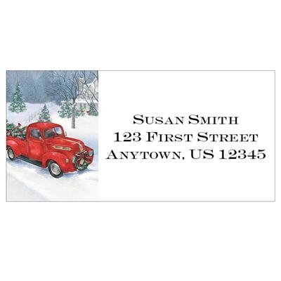 Vintage Truck Address Labels