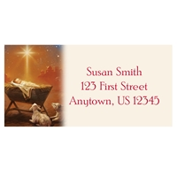 The Babe in the Manger Address Labels