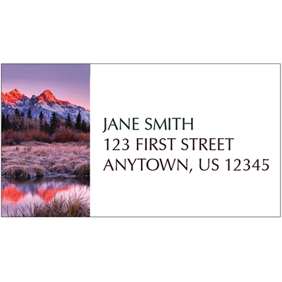 Sunrise Reflections at Grand Teton Address Label