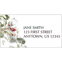Holly Greetings Address Label