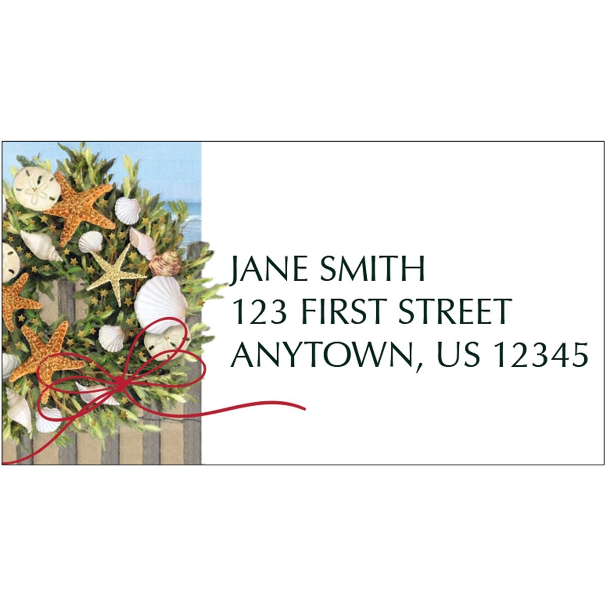 Warm Wishes Wreath Address Label