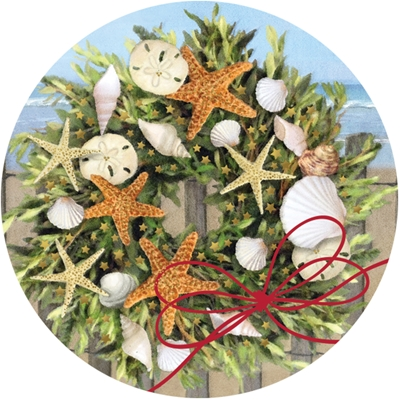 Warm Wishes Wreath Envelope Seal