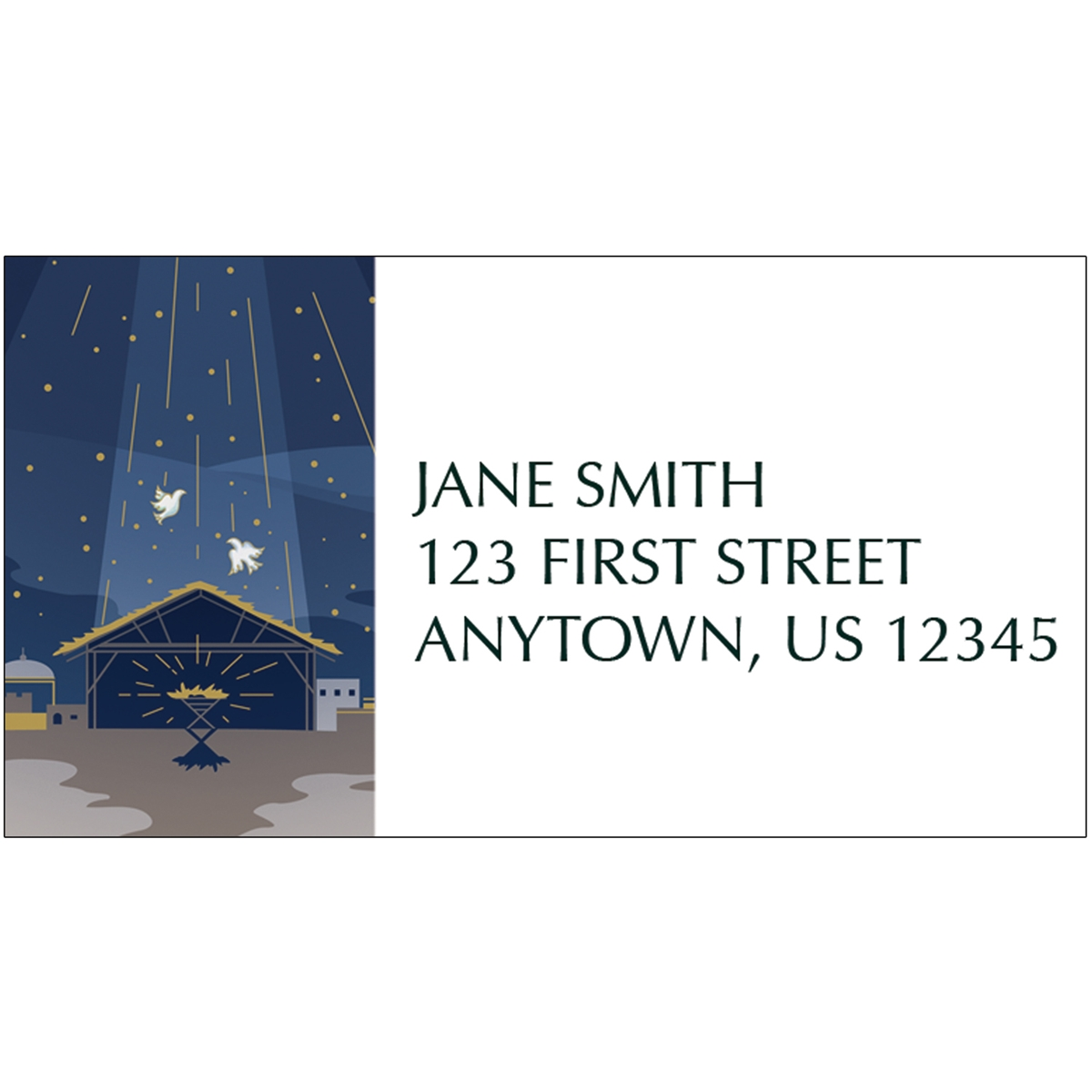 Shining Holy Star Address Label