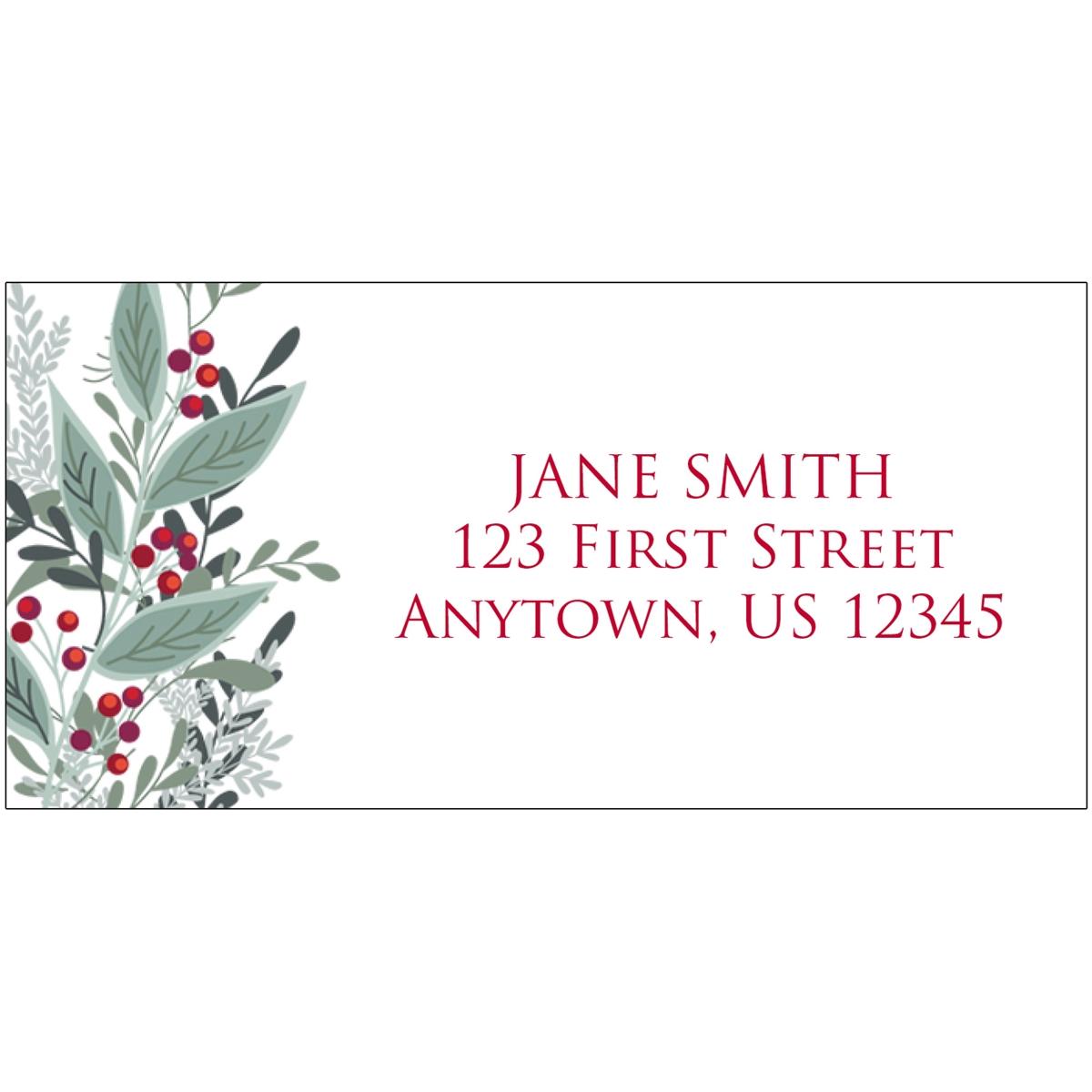 Geometric Christmas Address Label