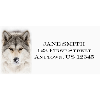 Timber Wolf Address Label