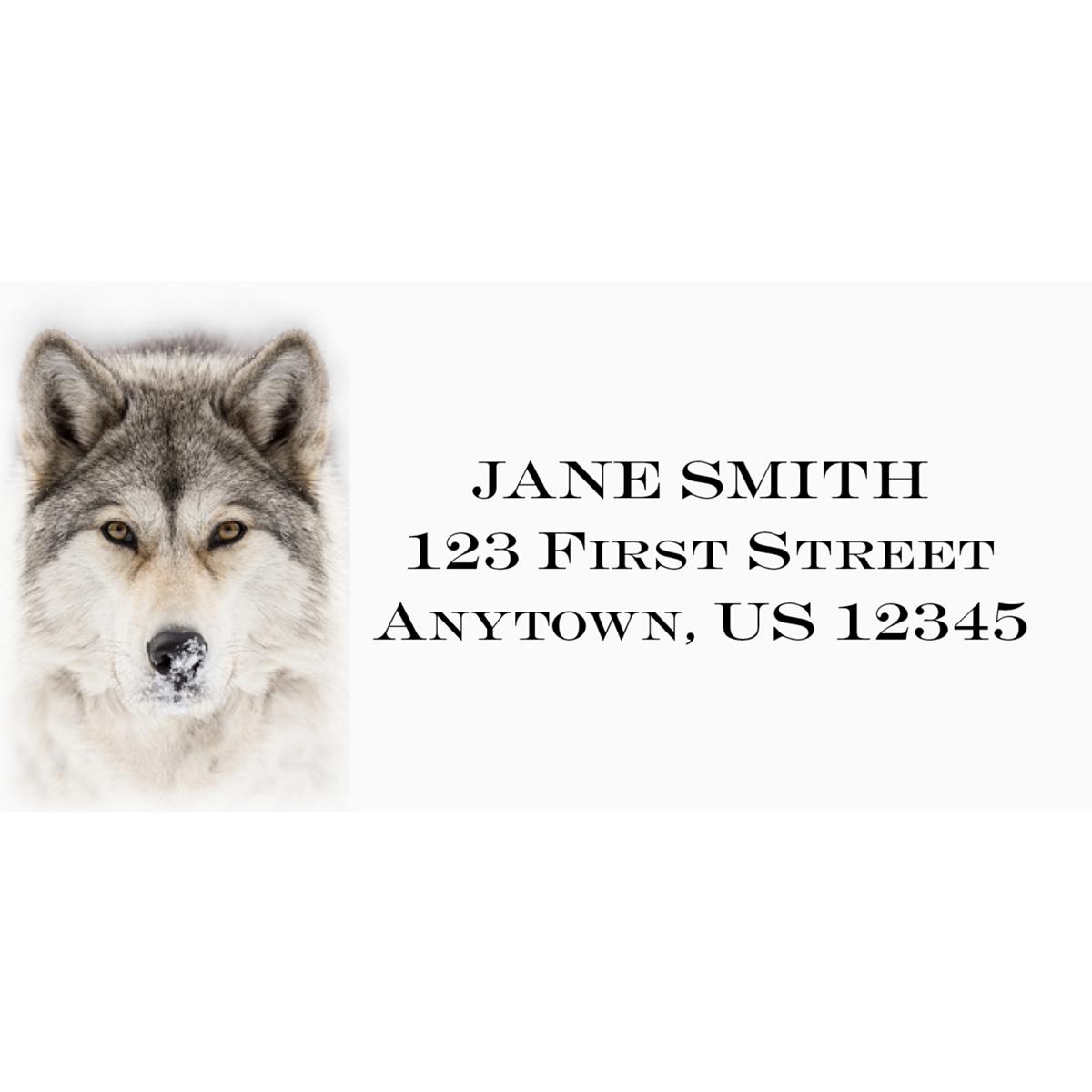 Timber Wolf Address Label