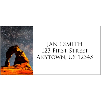 Starry Night Over Delicate Arch Address Label