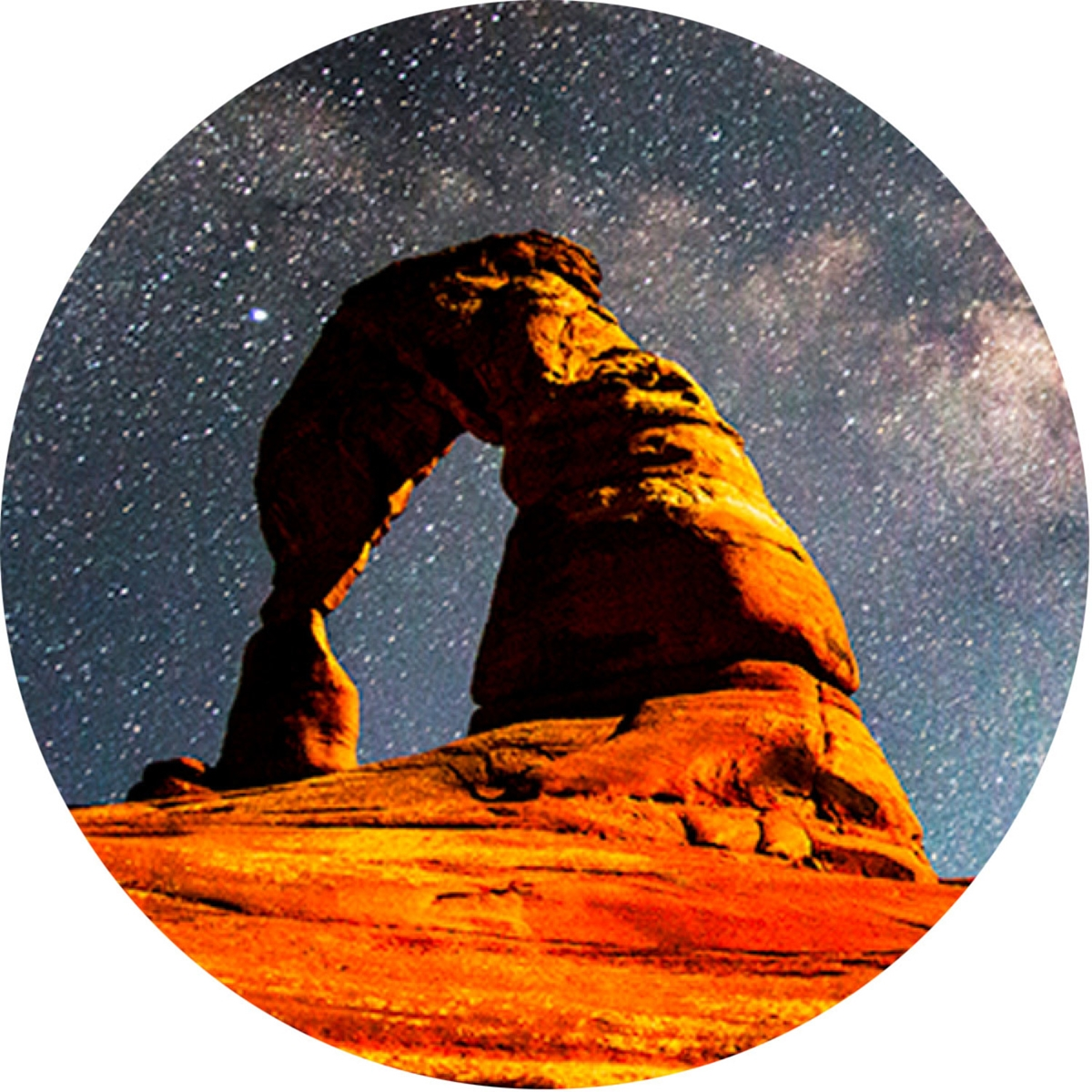 Starry Night Over Delicate Arch Envelope Seal