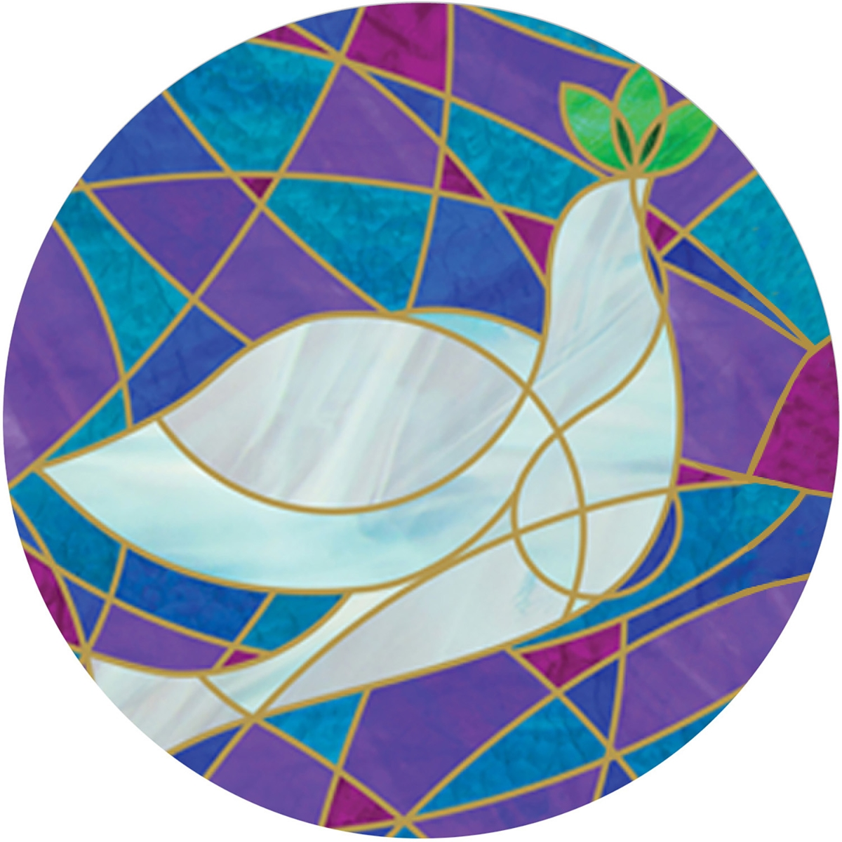 Stained Glass Dove Envelope Seal