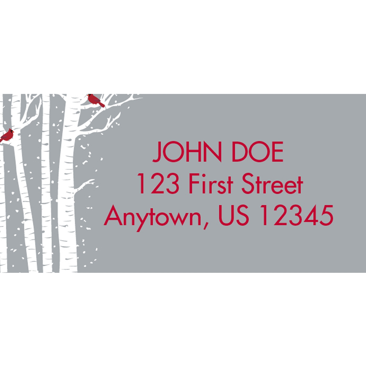 Merry and Bright Cardinals Address Labels