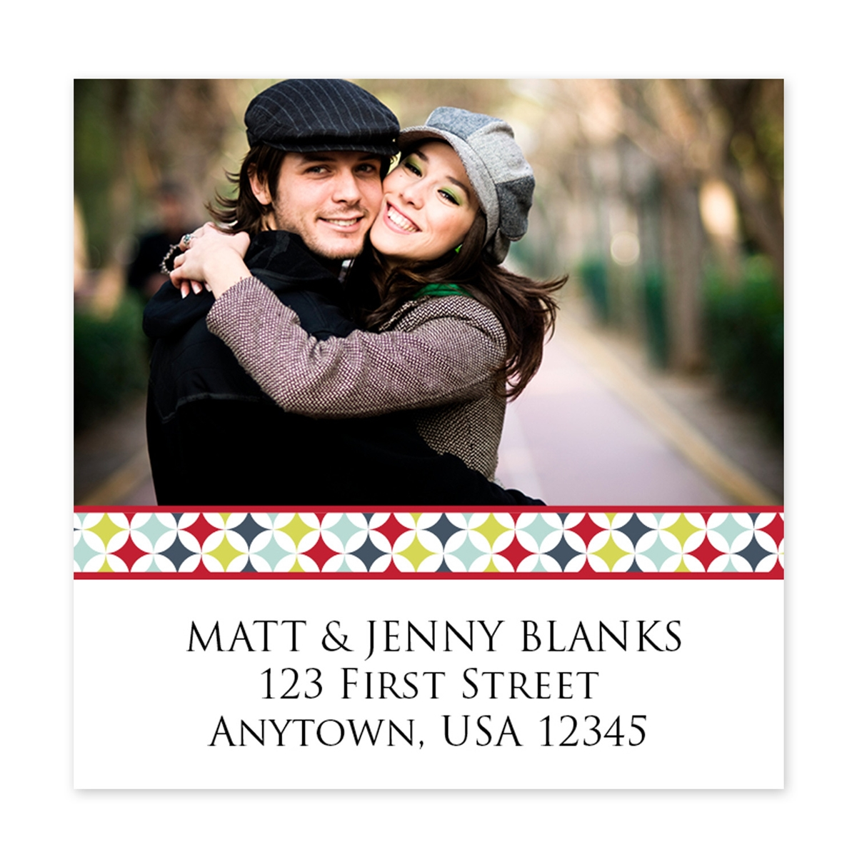 Square Photo Address Labels
