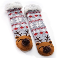 Reindeer Slipper Socks