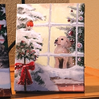 Dog in the Window LED Light-Up Canvas