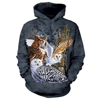 Find 11 Owls Hooded Pullover