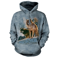 Wolf Couple Hooded Pullover