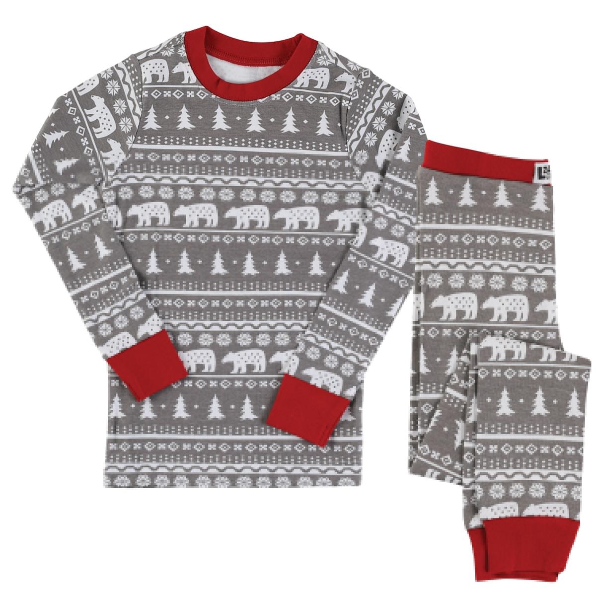Nordic Bear Kids Pajama Set