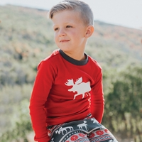 Moose Fair Isle Kids Pajama Set