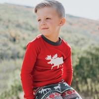 Moose Fair Isle Kids Pajama Set