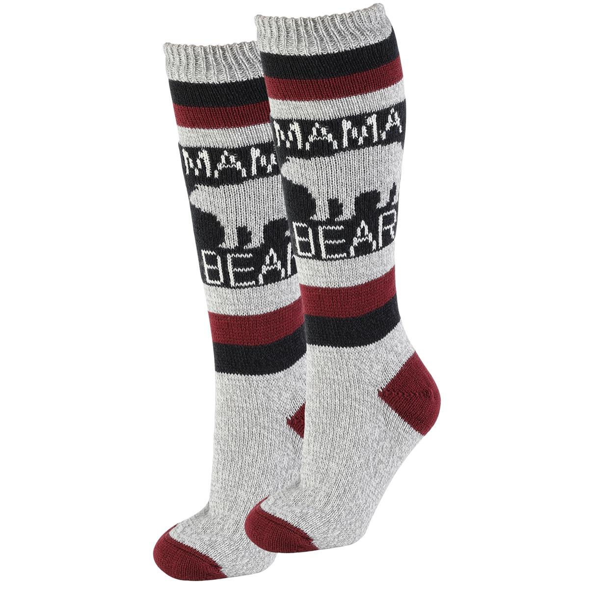 Mama Bear Sherpa Socks