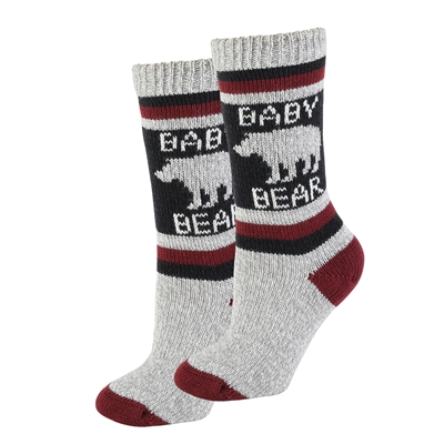 Baby Bear Sherpa Socks in Black