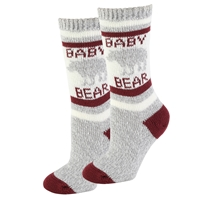 Baby Bear Sherpa Socks in Red