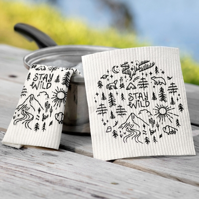 Stay Wild Swedish Dish Cloth