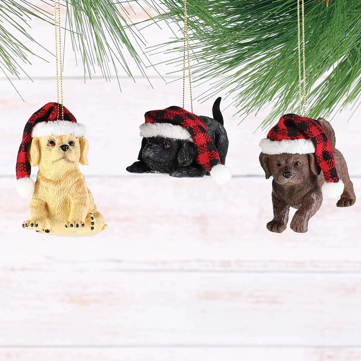 Lodge Puppy Ornaments