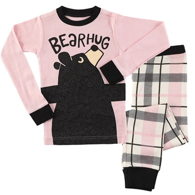 Pink Bear Hug Pajama Set
