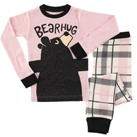 Pink Bear Hug Kids Pajama Set