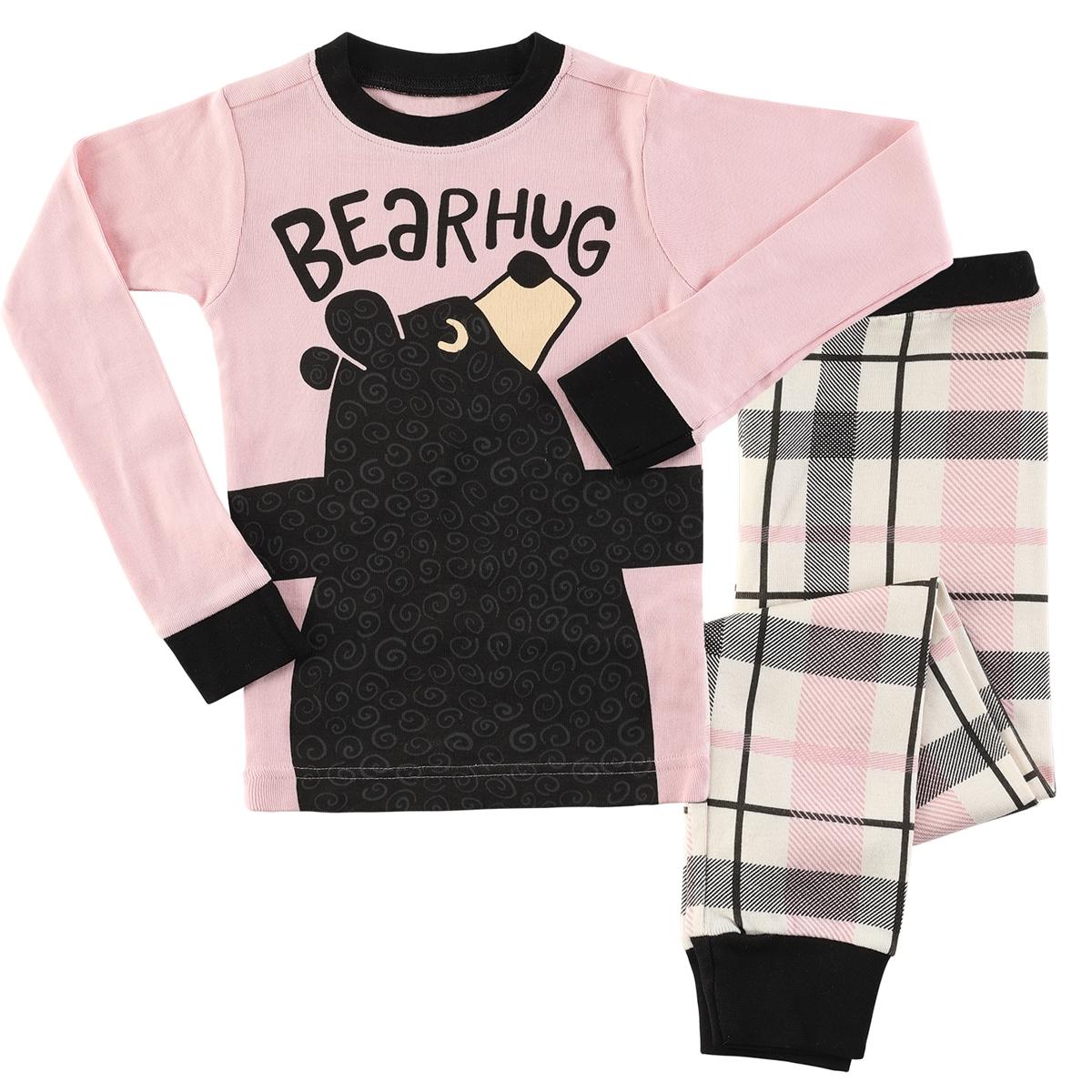 Pink Bear Hug Kids Pajama Set