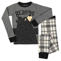 Gray Bear Hug Pajama Set