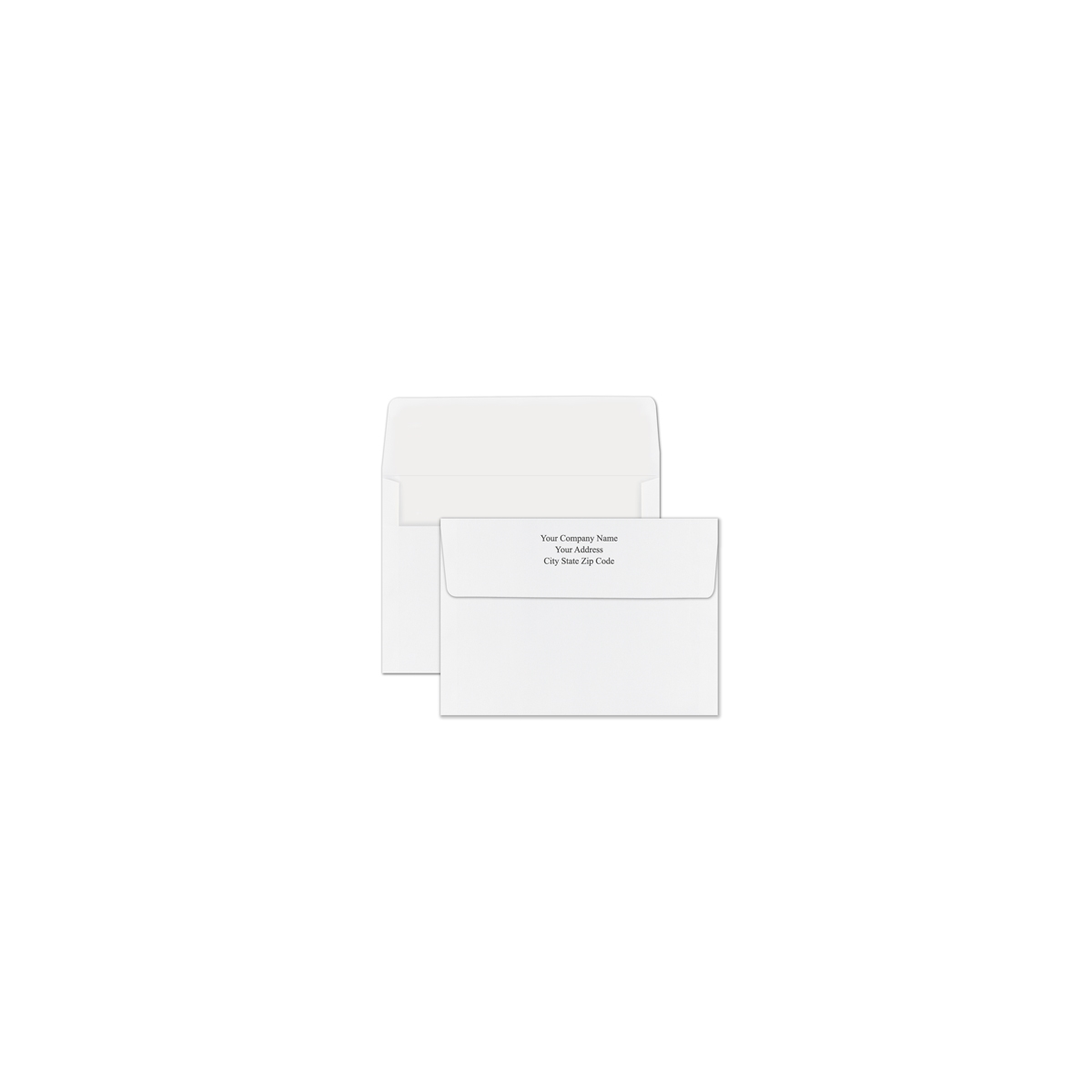 Unlined White Recycled Envelope - Printed