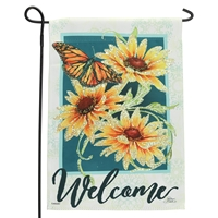 Sun Drenched Blossom Glitter Flag