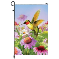 Hummingbird Coneflower Garden Flag